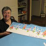 Donna creates a Winter Landscape.